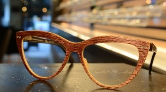 Wooden Fritz Frame in David Shanahan Optometrist Store